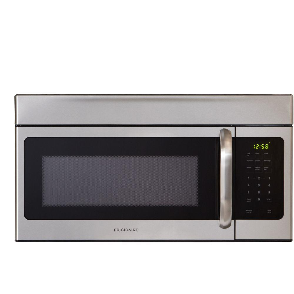 1 6 Cu Ft Over The Range Microwave In Stainless Steel Ffmv164ls Home Depot