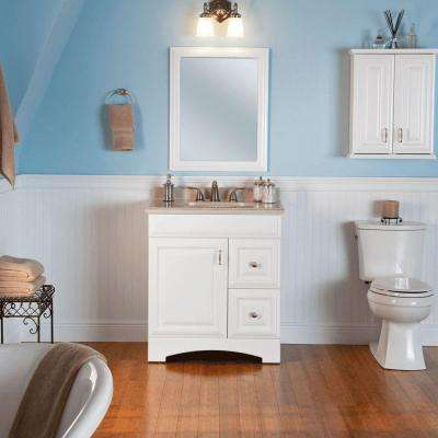Providence 21 in. W x 26 in. H x 8 in. D Over the Toilet Bathroom Storage Wall Cabinet in White