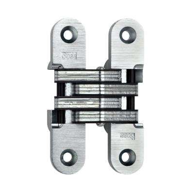 1 in. x 4-5/8 in. Satin Chrome Invisible Hinge