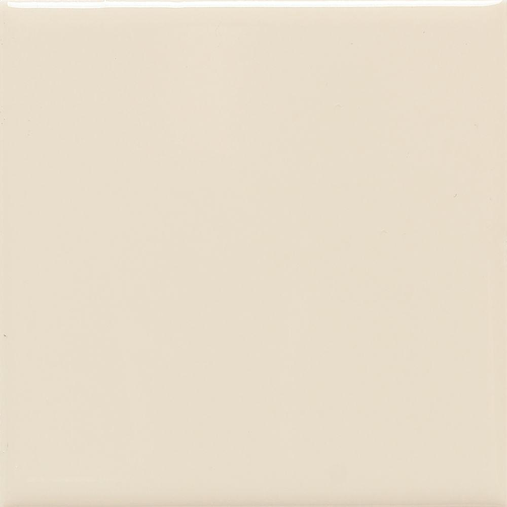 Semi-Gloss Almond 6 in. x 6 in. Ceramic Wall Tile (12.5
