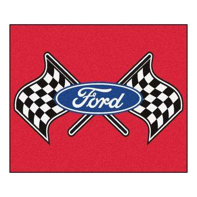 Ford Flags Red 4 ft. x 5 ft. Indoor/Outdoor Rectangle Tailgater Mat