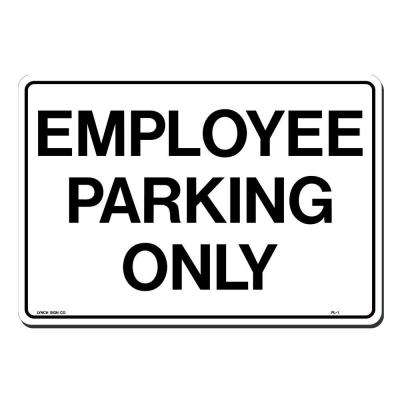 14 in. x 10 in. Employee Parking Only Sign Printed on More Durable, Thicker, Longer Lasting Styrene Plastic