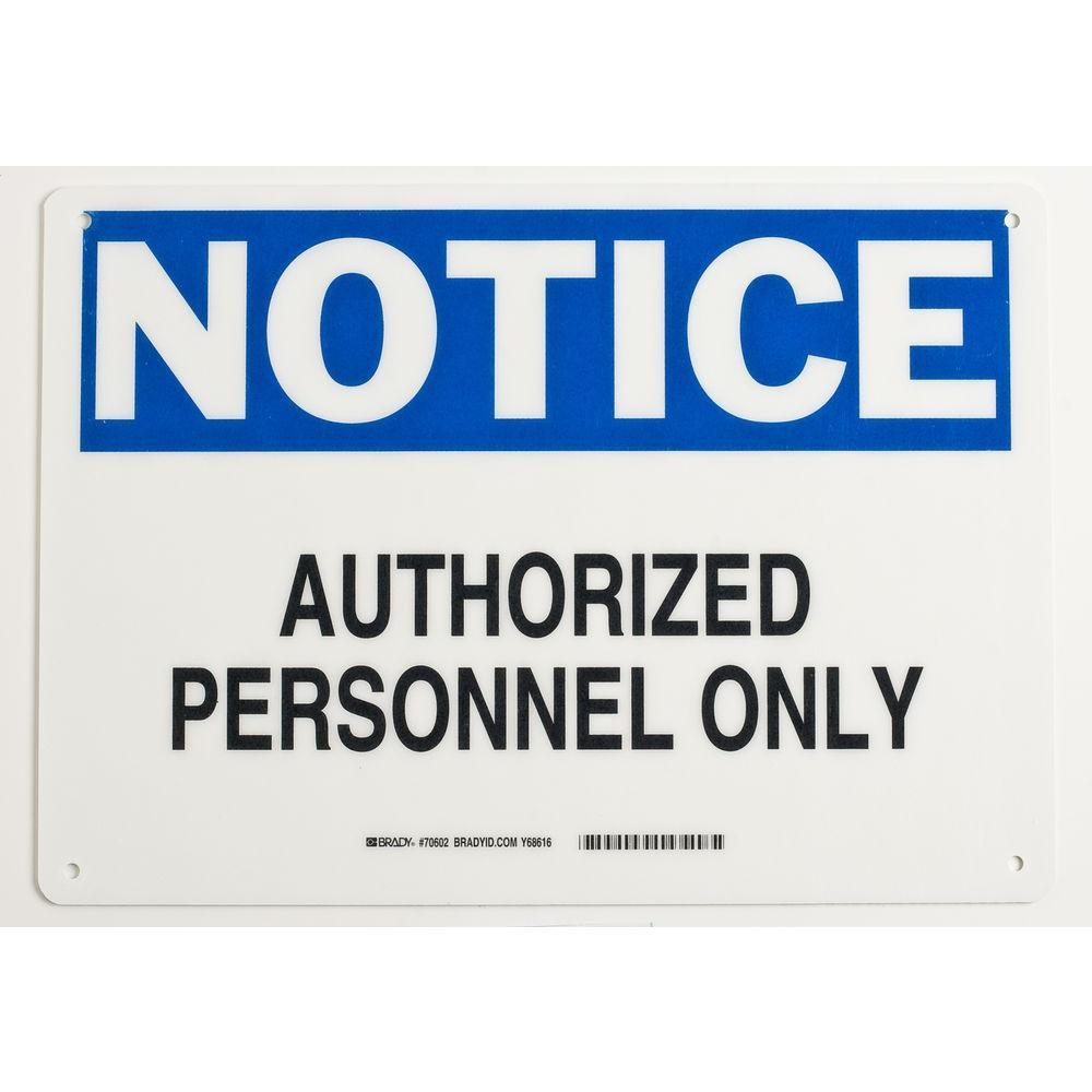 10 in. x 14 in. Fiberglass Admittance Sign