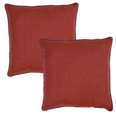 Chili Texture Square Outdoor Throw Pillow (2-Pack)