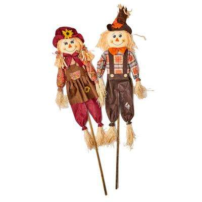 48 in. Scarecrow on Stake (Set of 2)