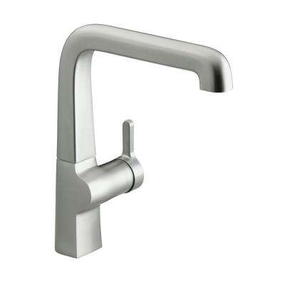 Evoke Mid-Arc Single-Handle Standard Kitchen Faucet in Vibrant Stainless Steel