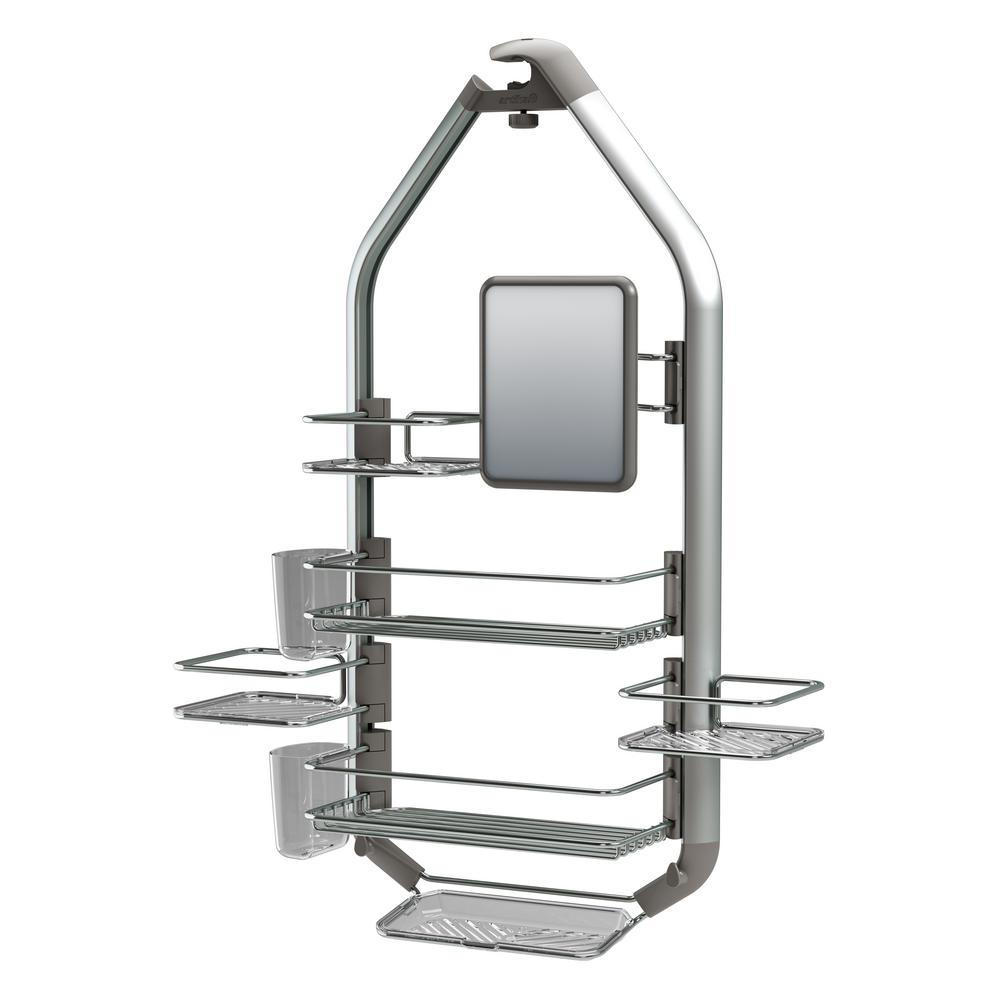 Artika Adjustable Over The Shower Headdoor Caddy With Mirror In