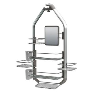 Artika Adjustable Over-The-Shower Head/Door Caddy with Mirror in Aluminum and Stainless Steel by Artika