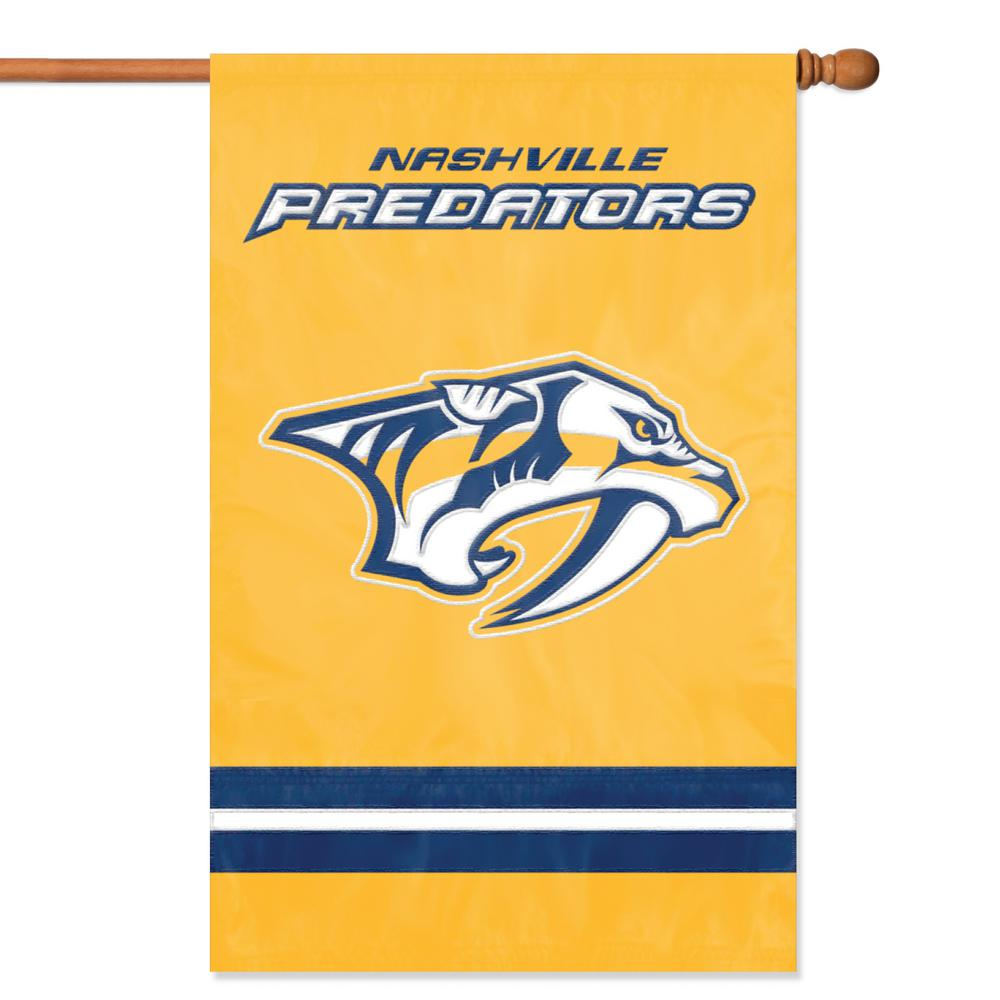 Nashville Predators Applique /& Embroidered Flag NHL