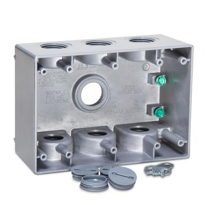 3 Gang Weatherproof Deep Box with Seven 3/4 in. Outlets