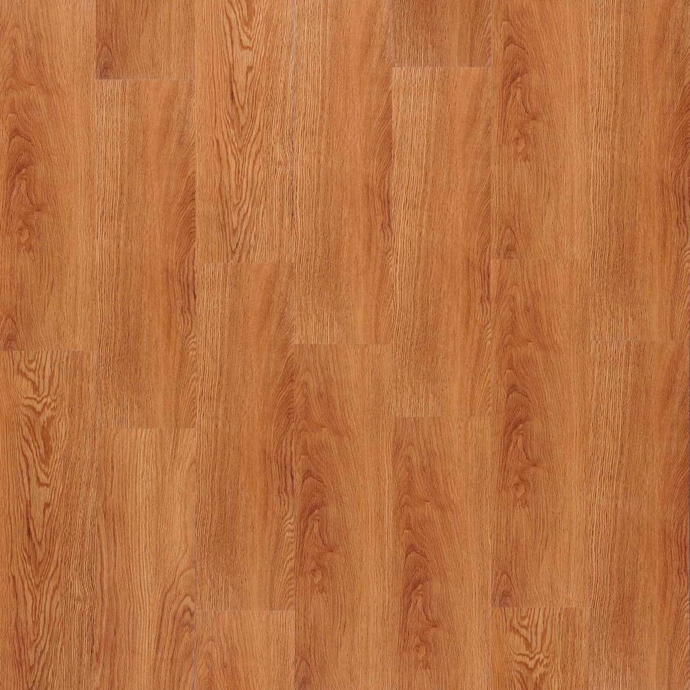 TrafficMASTER Traditional Oak Amber 5-45/64 in. x 35-45/64 in. x 4 mm Vinyl Plank Flooring (22.66 sq. ft. / case)