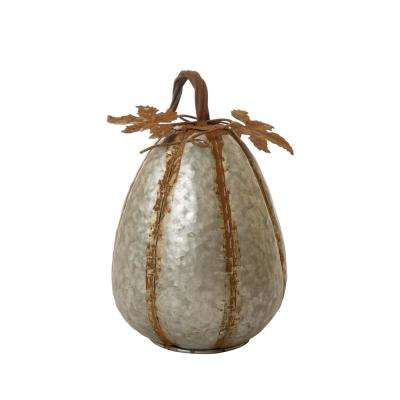 12 in. H Medium Galvanized Pumpkin