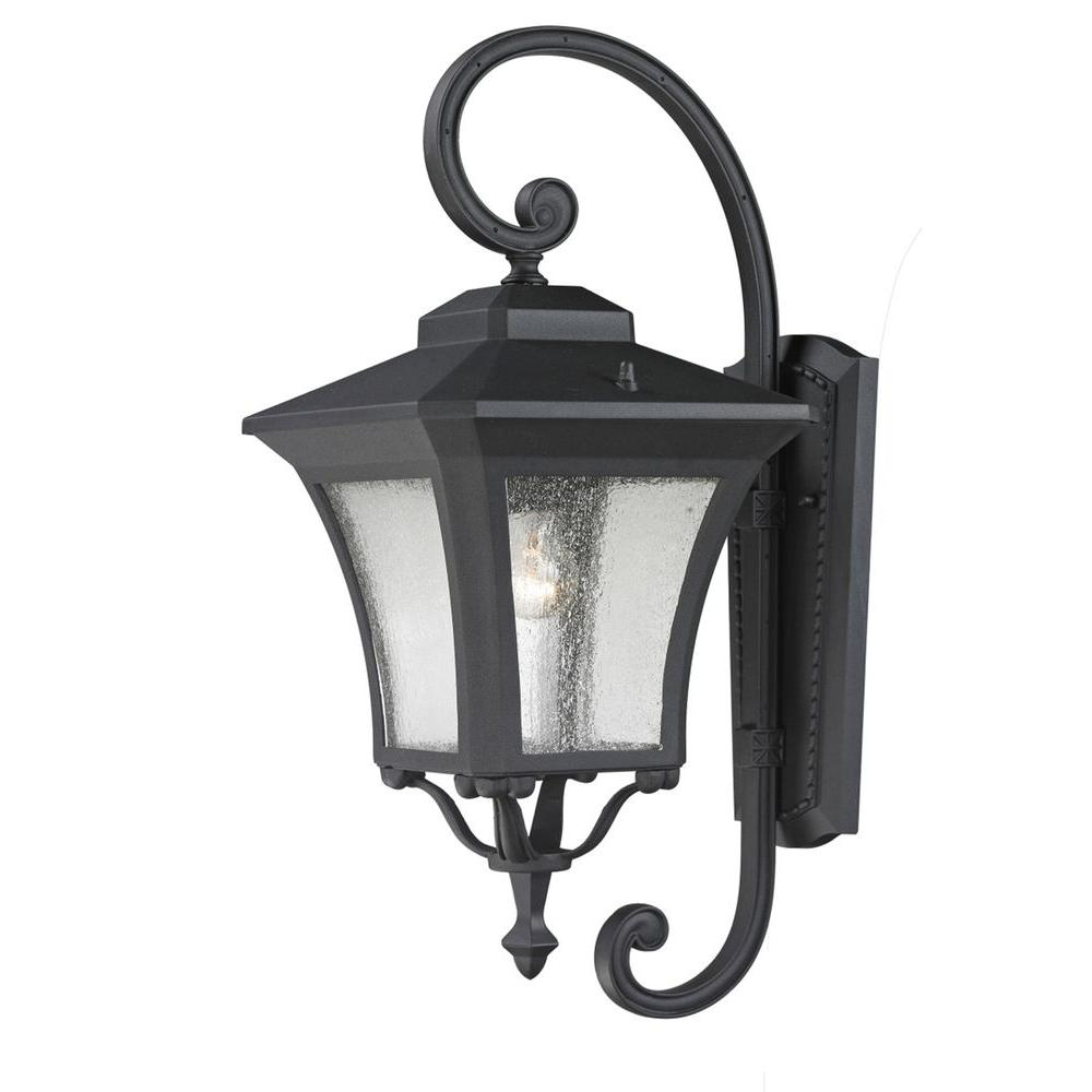 Lawrence 1-Light Sand Black Incandescent Outdoor Wall Light