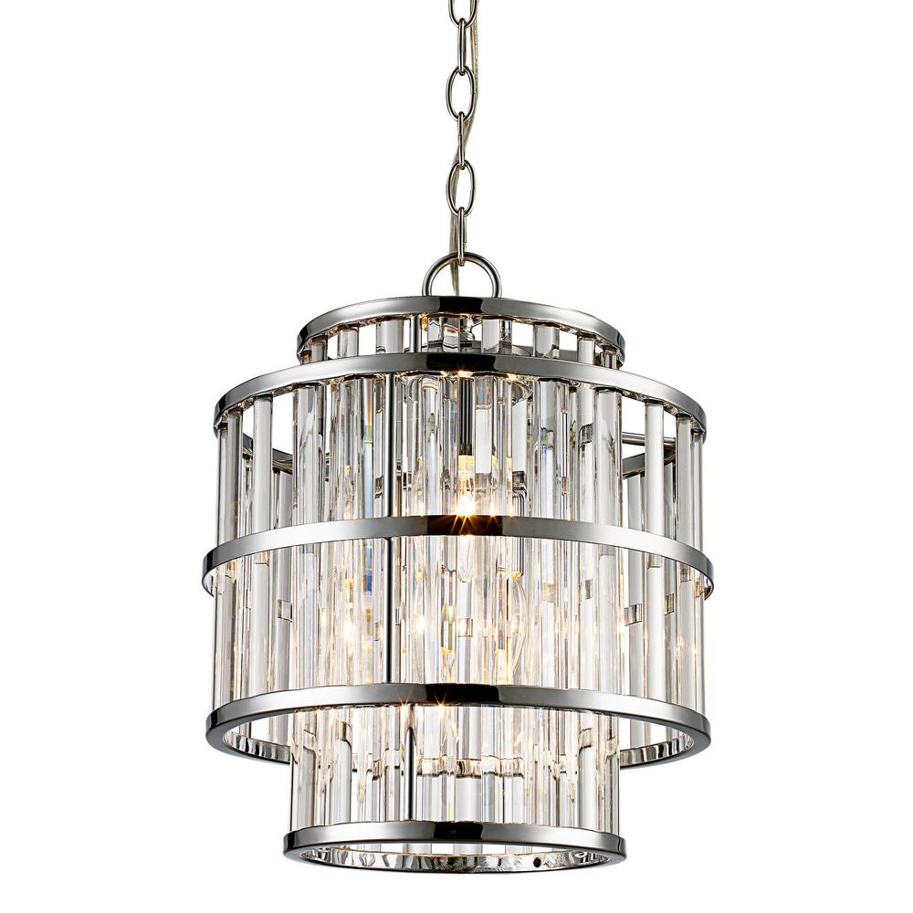 Bel Air Lighting 3 Light Polished Chrome Chandelier With