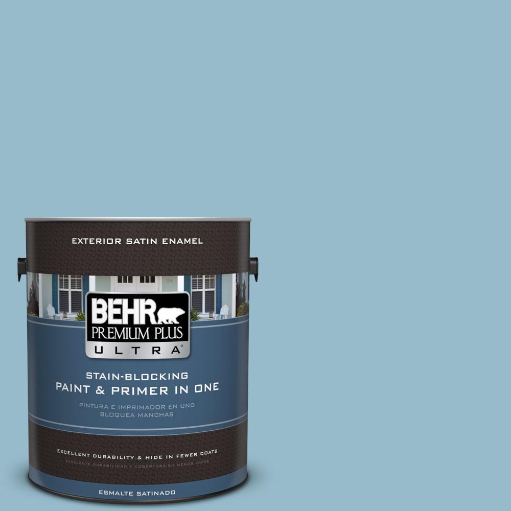 BEHR Premium Plus Ultra 1-gal. #S480-3 Sydney Harbour Satin Enamel Exterior Paint