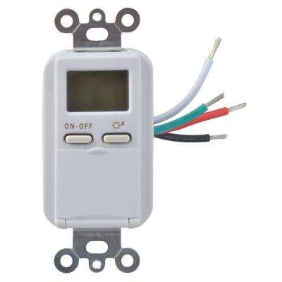 15-Amp 7-Day In-Wall Astronomical Programmable Digital Timer Switch, White