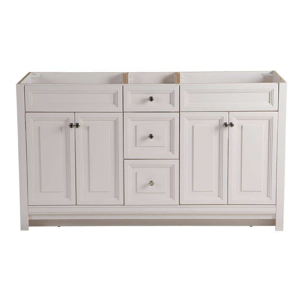 Home Decorators Collection Brinkhill 60 In W X 34 In H X 22 In D Bathroom Vanity Cabinet In Cream Bh60 Cr The Home Depot