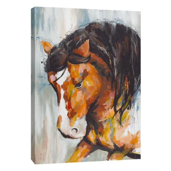 PTM Images 12 in. x 10 in. ''Black Beauty 2'' Printed Canvas Wall Art