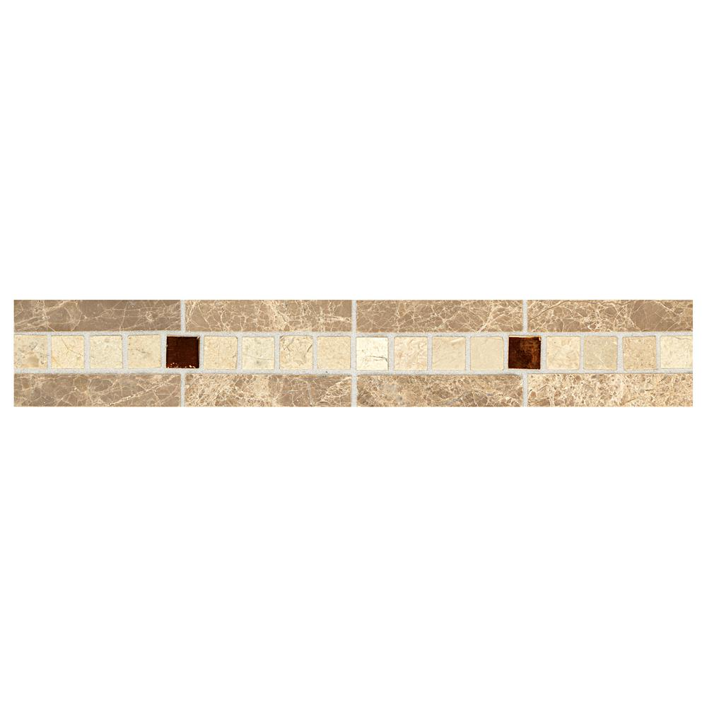 Daltile Stone Decorative Accents Copper Mystery 1 7 8 In