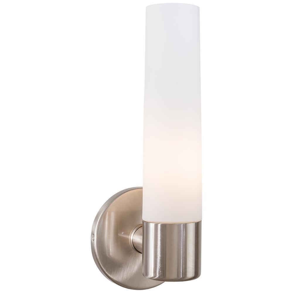 Saber 1-Light Brushed Nickel Wall Sconce