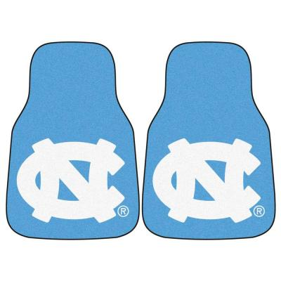 University of North Carolina Chapel Hill 18 in. x 27 in. 2-Piece Carpeted Car Mat Set
