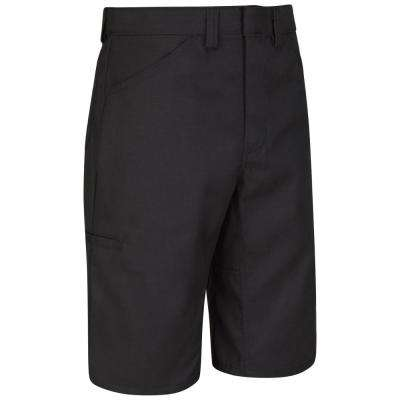 Men's 32 in. x 13 in. Black Lightweight Crew Short