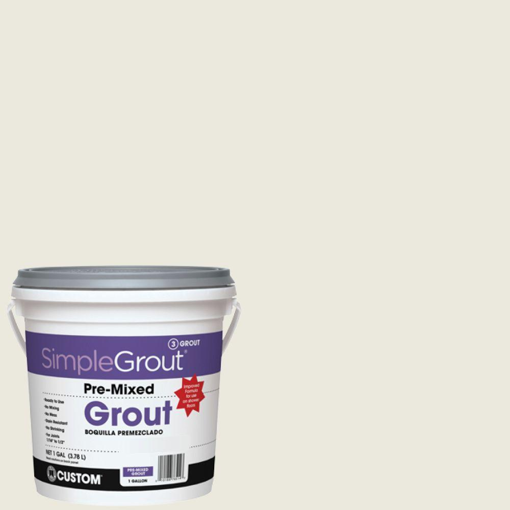 Custom Building Products SimpleGrout #381 Bright White 1 Gal. Pre-Mixed Grout