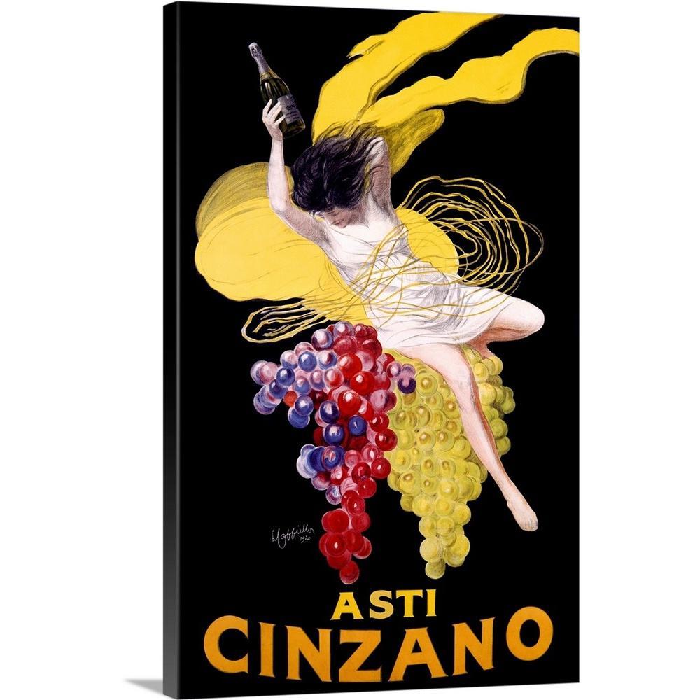 GreatBigCanvas ''Cinzano Asti Aperitif Wine Vintage Advertising Poster'' by