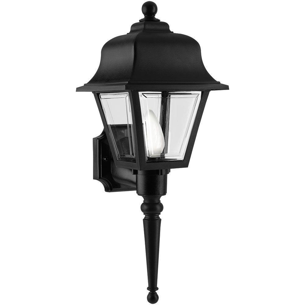 Newport Coastal Liberty Black Outdoor Wall-Mount Lantern
