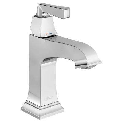 Town Square S Single Hole Single-Handle Bathroom Faucet with Red/Blue Indicators in Polished Chrome