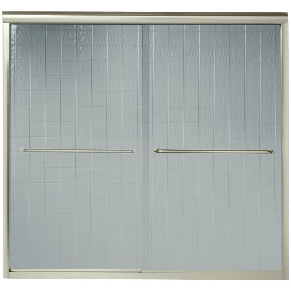 STERLING Finesse 59-5/8 in. x 55-3/4 in. Semi-Frameless Sliding ...