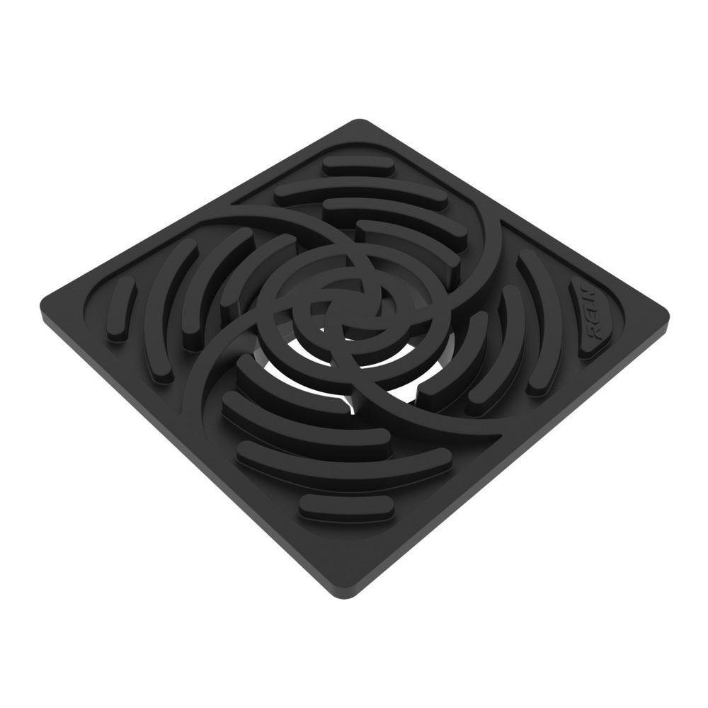 6 in. Square Black Grate
