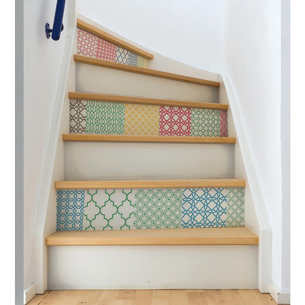 Wall Pops 34 5 In X 39 Stand Out Stair Decor Decal Wpk1728 The Home Depot