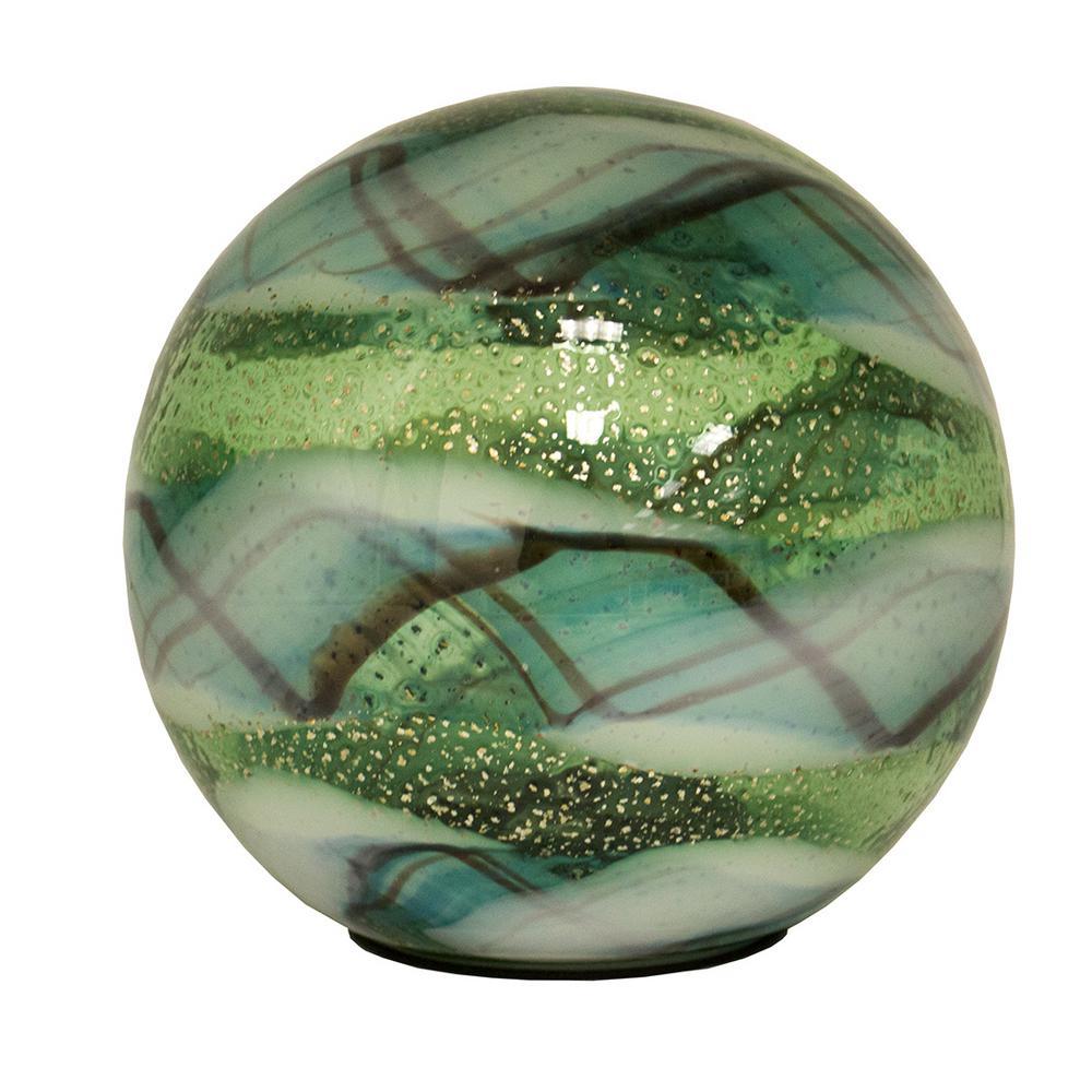 Outdoozie 7 In Gazing Ball Art Glass Solar Light