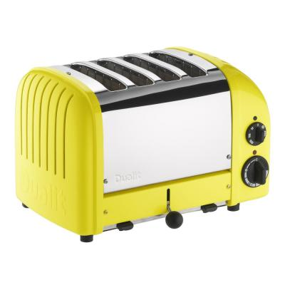 Dualit-New Gen 4-Slice Citrus Yellow Wide Slot Toaster with Crumb Tray