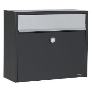 Allux Black Wall-Mount Mailbox by