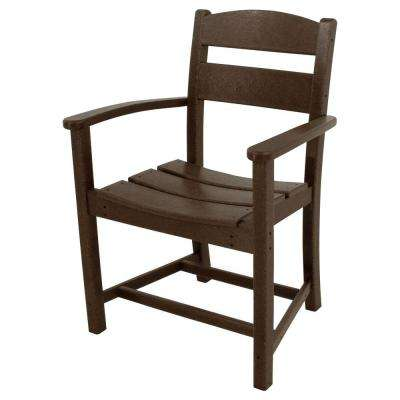Classics Mahogany All-Weather Plastic Outdoor Dining Arm Chair