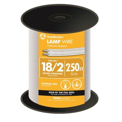 250 ft. 18/2 Silver Stranded CU SPT-1 Lamp Wire