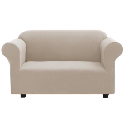 Tan Pique Fits Love Seat Slipcover
