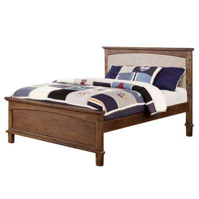 William S Home Furnishing Colin Dark Oak Full Bed Cm7909a P F Bed The Home Depot