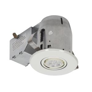 Globe electric 3 in white led ic rated swivel spotlight - Retrofit bathroom fan with light ...