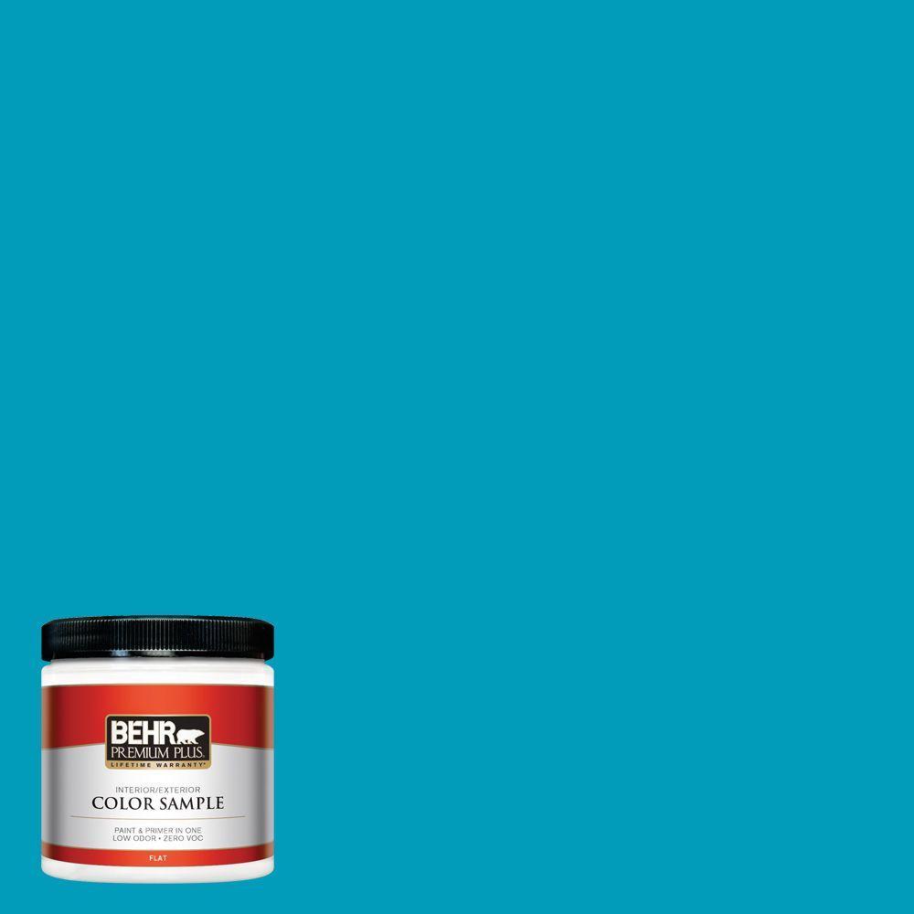 BEHR Premium Plus 8 oz. #520B-6 Brilliant Sea Interior/Exterior Paint Sample
