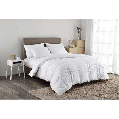 500 Thread Count White Goose Down Comforter King in White
