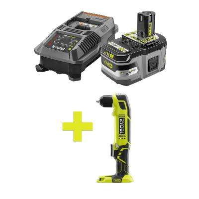18-Volt ONE+ Lithium-Ion LITHIUM+ HP 6.0 Ah Starter Kit w/ Bonus ONE+ 3/8 in. Right Angle Drill