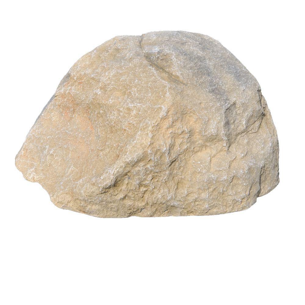 null 27 in. L x 21 in. W x 14 in. H Large Imitation Fieldstone Tan Landscape Rock