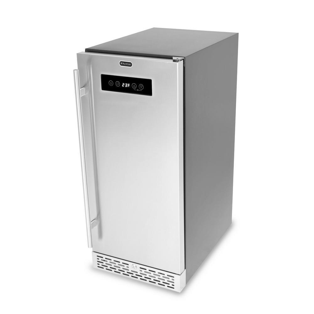 2.9 cu. ft. Built-in Freestanding Outdoor Beer Keg Froster Beverage Refrigerator w/ Digital Controls in Stainless Steel