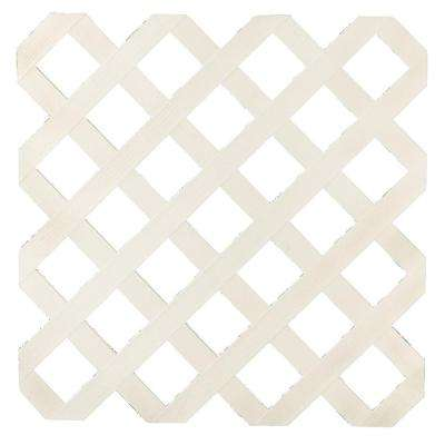 0.16 in. x 48 in. x 8 ft. Almond Garden Plastic Lattice