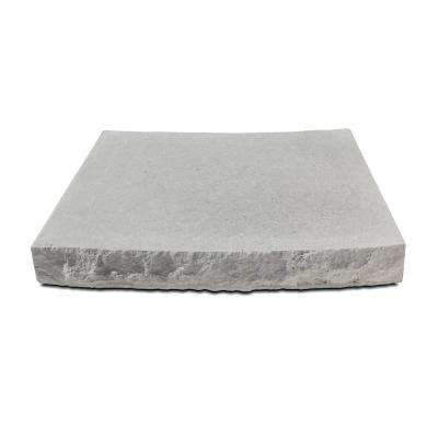 Silver Creek 18.75 in. W x 12 in D. x 2.25 in. H Indiana Limestone Concrete Radius Seat Wall Cap Chiseled 2 Sides