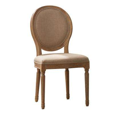 Josie Brown Upholstered Oval Back Dining Chairs (Set of 2)