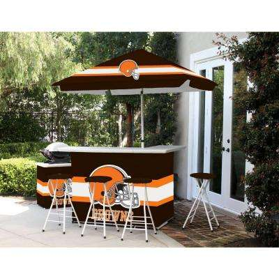 Cleveland Browns All-Weather Patio Bar Set with 6 ft. Umbrella